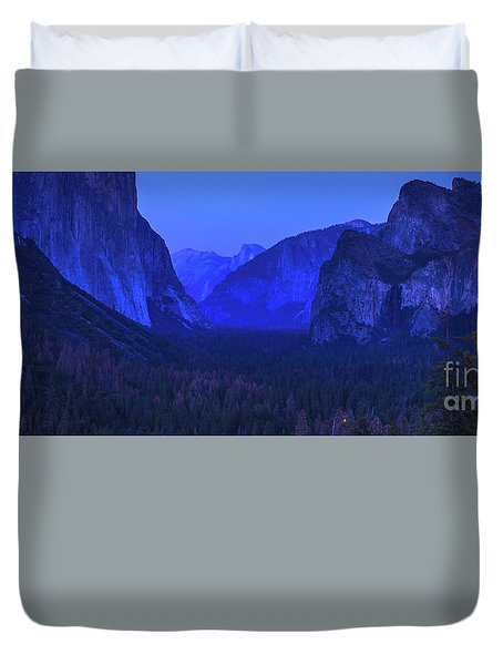 El Capitan Blue Hour Duvet Cover