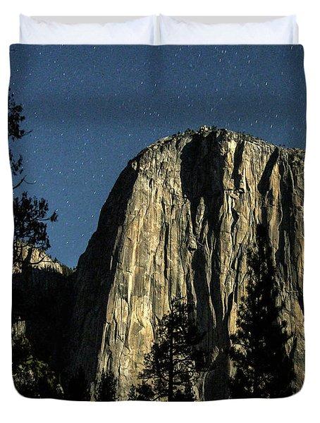 El Capitan By Starlight, Yosemite Valley, Yosemite Np, Ca Duvet Cover
