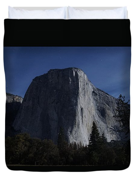 El Capitan In Moonlight Duvet Cover