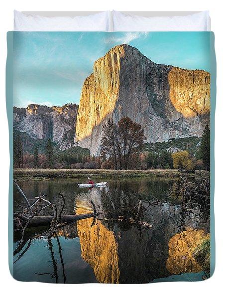 El Capitan Sunset Duvet Cover by Alpha Wanderlust