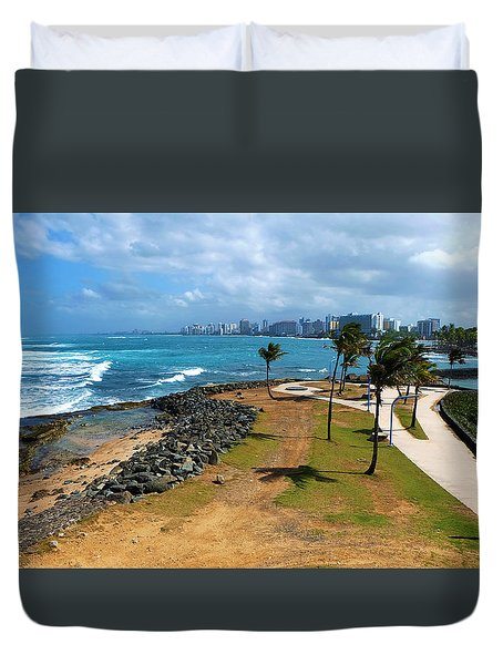 Duvet Cover featuring the photograph El Escambron by Ricardo J Ruiz de Porras