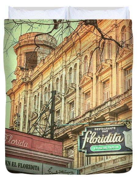 El Floridita Havana Cuba Duvet Cover