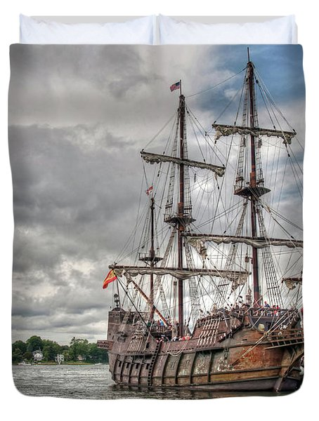 El Galeon Andalucia In Portsmouth Duvet Cover