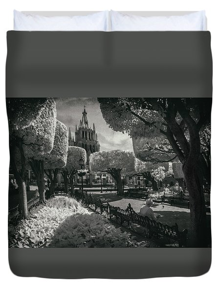 el Jardin Duvet Cover by Sean Foster