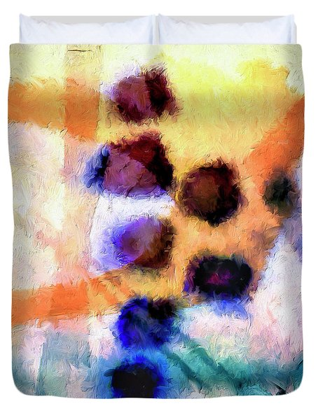 Duvet Cover featuring the painting El Paso Del Tiempo by Dominic Piperata