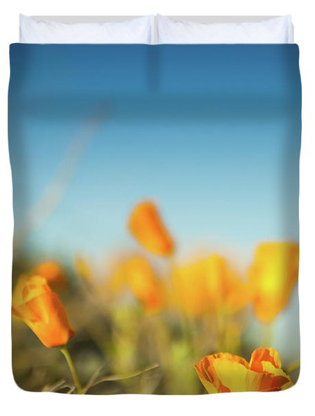El Paso Poppies Duvet Cover