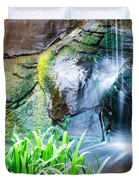 El Paso Zoo Waterfall Long Exposure Duvet Cover