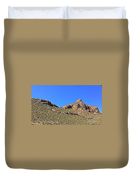 Duvet Cover featuring the photograph El Paso's  Pali - No. 2016 by Joe Finney