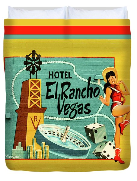 Duvet Cover featuring the photograph El Rancho by Jeff Burgess