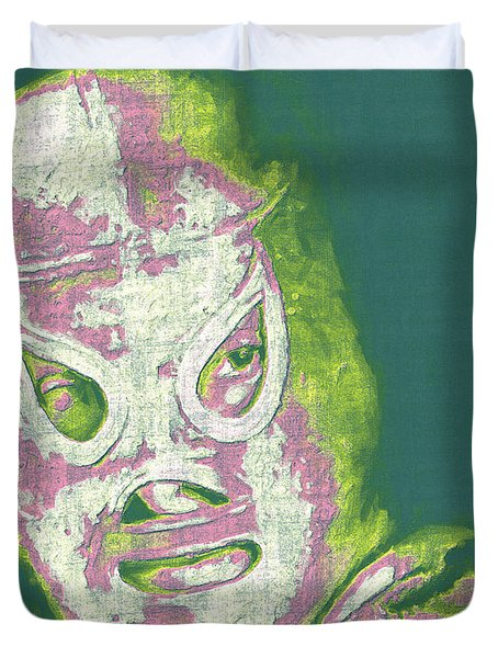 El Santo The Masked Wrestler 20130218v2m80 Duvet Cover