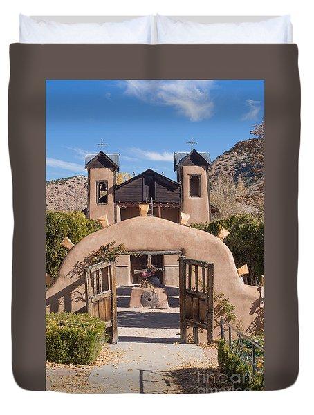 El Santuario De Chimayo Church Duvet Cover