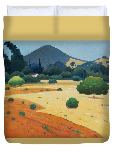 El Toro At Rest Duvet Cover by Gary Coleman
