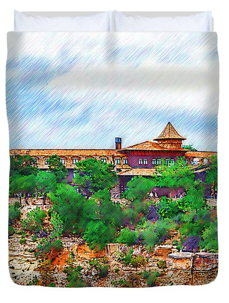 El Tovar At The Grand Canyon Duvet Cover