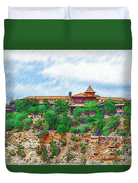 El Tovar At The Grand Canyon Duvet Cover