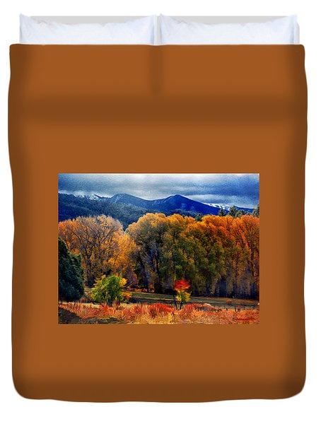 El Valle November Pastures Duvet Cover by Anastasia Savage Ealy