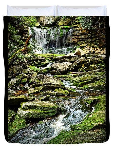 Elakala Falls At Blackwater Falls State Park Duvet Cover