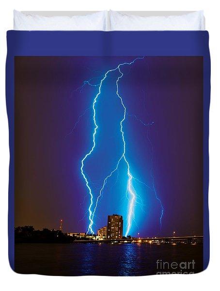 Electric Blue Duvet Cover by Quinn Sedam