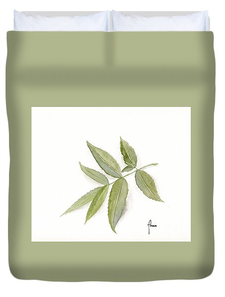 Elderberry Leaf Duvet Cover