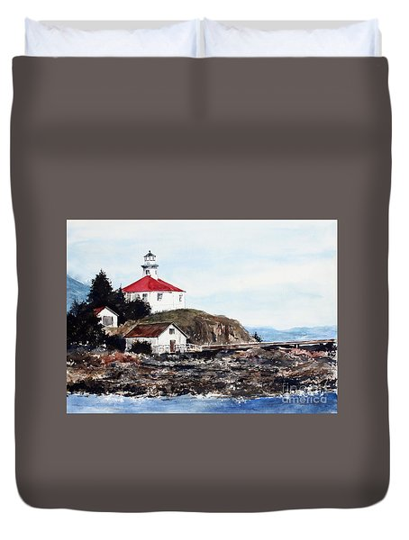 Eldred Rock Lighthouse Duvet Cover