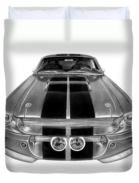 Eleanor Ford Mustang Duvet Cover