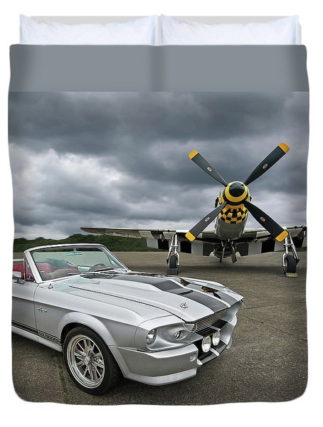 Eleanor Mustang With P51 Duvet Cover