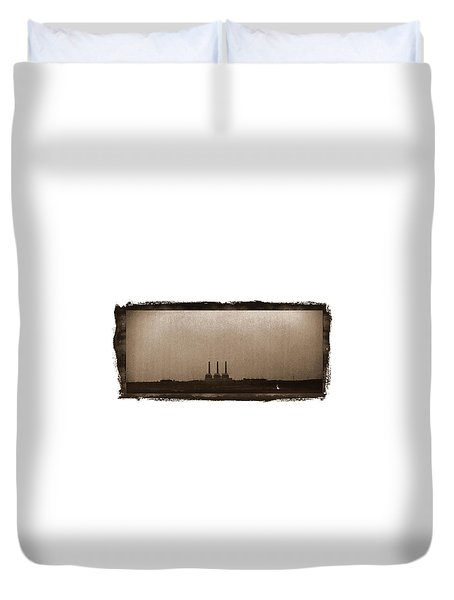 Electric Avenue Duvet Cover by Thomas Bomstad