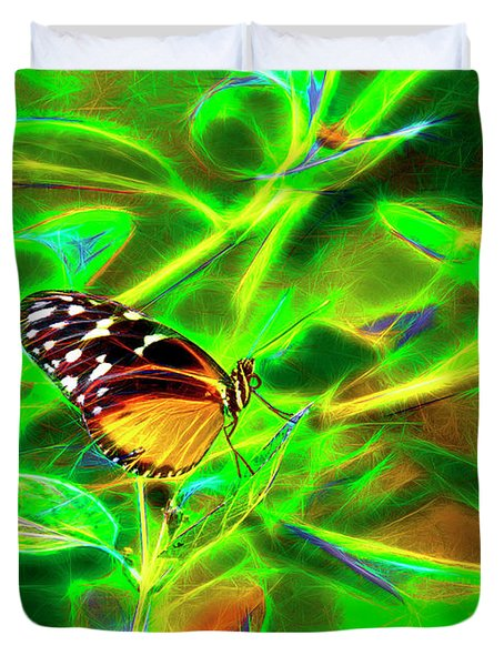 Electric Butterfly Duvet Cover