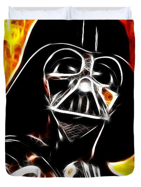 Electric Darth Vader Duvet Cover by Paul Van Scott