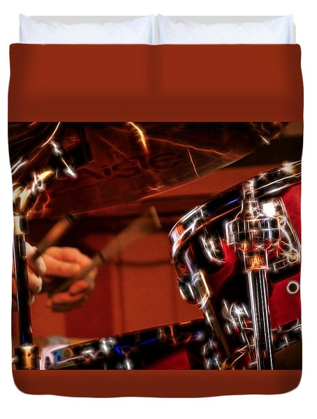 Electric Drums Duvet Cover