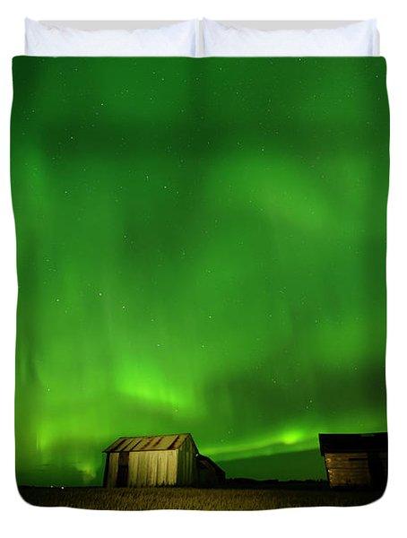 Electric Green Skies Duvet Cover