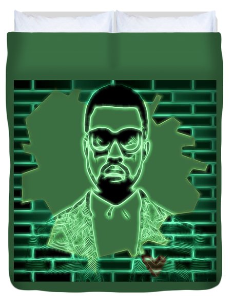 Electric Kanye West Graphic Duvet Cover