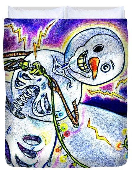 Electric Lights On Strings Duvet Cover