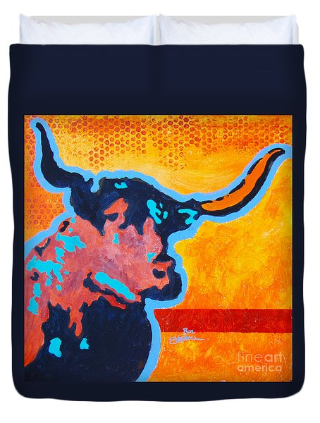 Electric Longhorn Duvet Cover