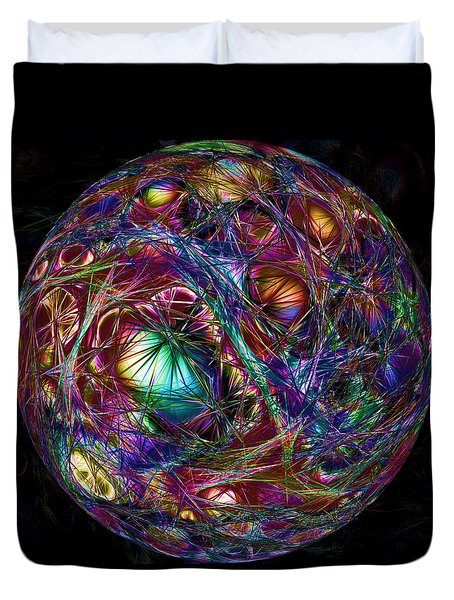 Electric Neon Abstract Duvet Cover