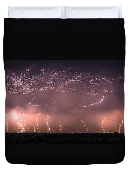 Electric Panoramic V Duvet Cover
