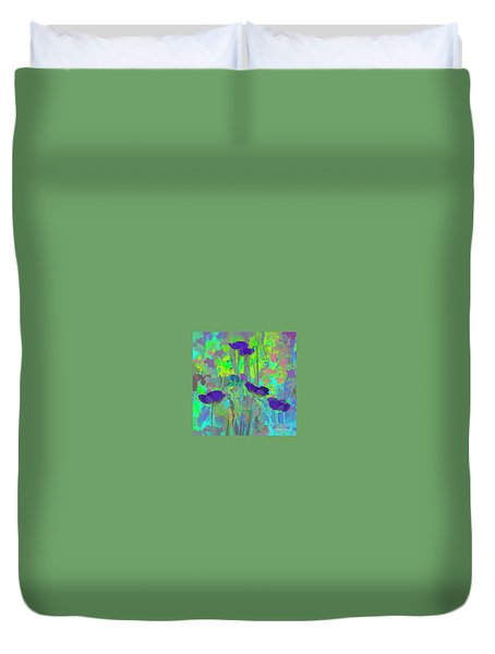 Electric Poppies Duvet Cover