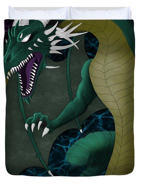 Electric Portal Dragon Duvet Cover