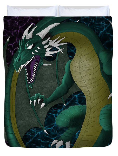 Electric Portal Dragon Duvet Cover