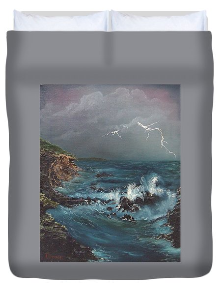 Electric Sky Duvet Cover