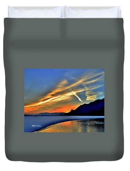 Electric Sunrise Duvet Cover