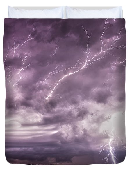 Electrical Mayhem Duvet Cover