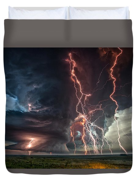 Electrical Storm Duvet Cover by James Menzies