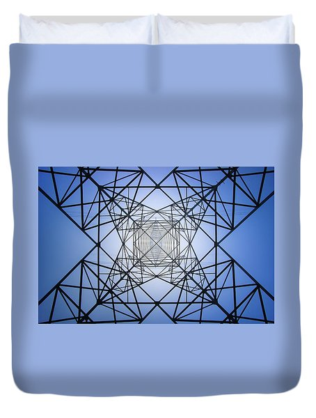 Electrical Symmetry Duvet Cover