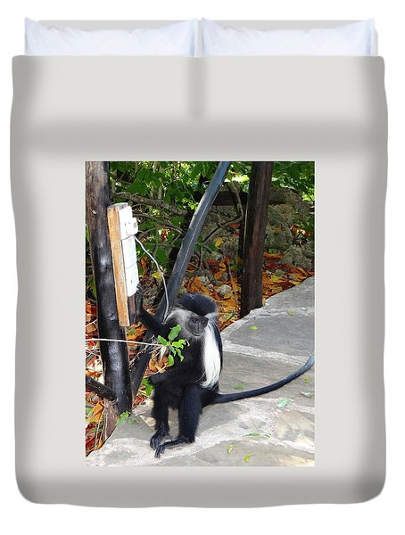 Electrical Work - Monkey Power Duvet Cover