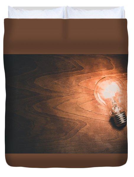 Electricity Concept Duvet Cover