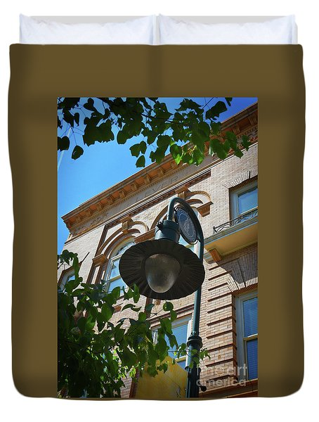 Duvet Cover featuring the photograph Electrifying  Architecture by Skip Willits