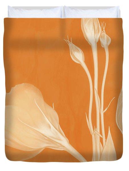 Elegance In Apricot Duvet Cover