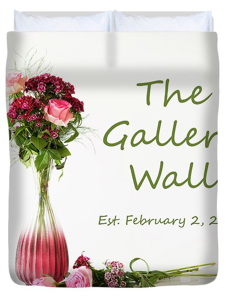 Duvet Cover featuring the photograph Elegance-the Gallery Wall Logo by Wendy Wilton