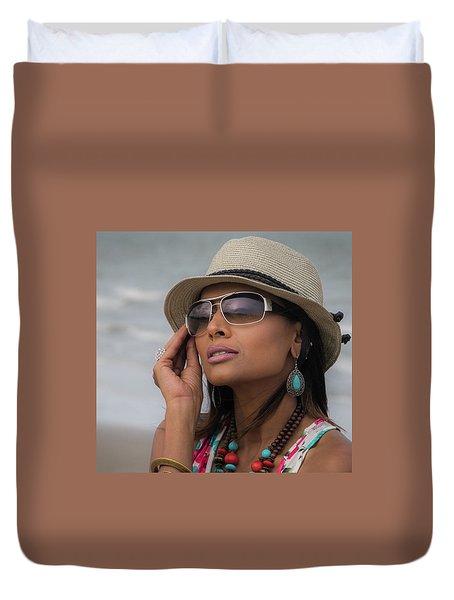 Elegant Beach Fashion Duvet Cover