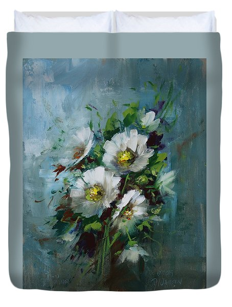 Elegant Blossoms Duvet Cover by David Jansen